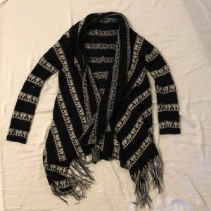 Billabong knit cardigan with fringe